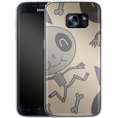 Samsung Galaxy S7 Silikon Handyhuelle - Cartoon Skeleton von caseable Designs