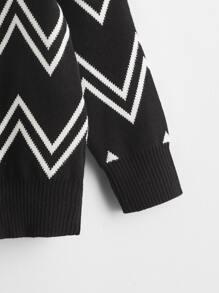 Toddler Boys Chevron Pattern Sweater