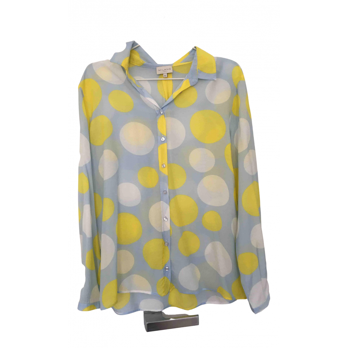 Non Signé / Unsigned N Blue  top for Women 42 IT