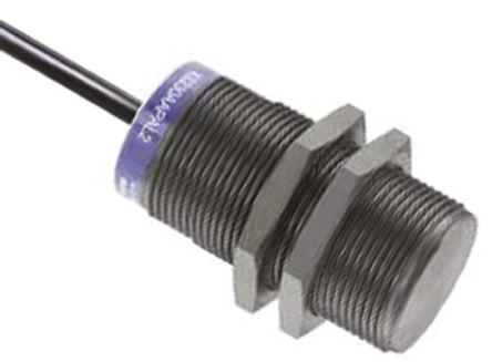 Telemecanique Sensors M30 x 1.5 Inductive Sensor - Barrel, NPN-NO Output, 22 mm Detection, IP69K, Cable Terminal
