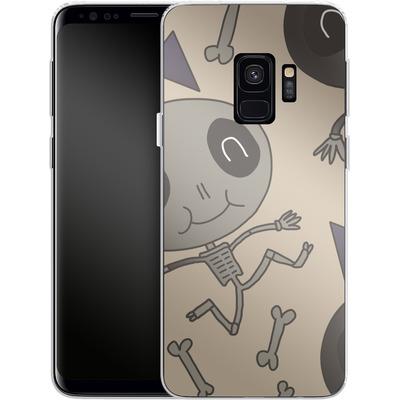 Samsung Galaxy S9 Silikon Handyhuelle - Cartoon Skeleton von caseable Designs