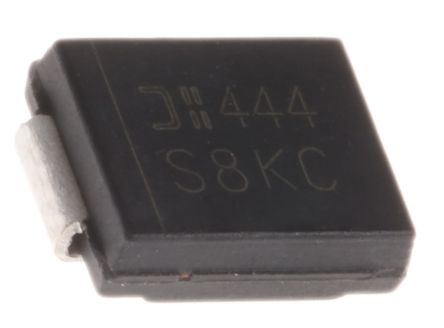 DiodesZetex Diodes Inc 800V 8A, Silicon Junction Diode, 2-Pin DO-214AB S8KC-13 (10)
