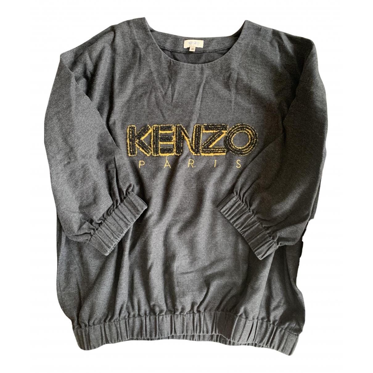Kenzo N Grey Cotton Knitwear for Women 40 IT