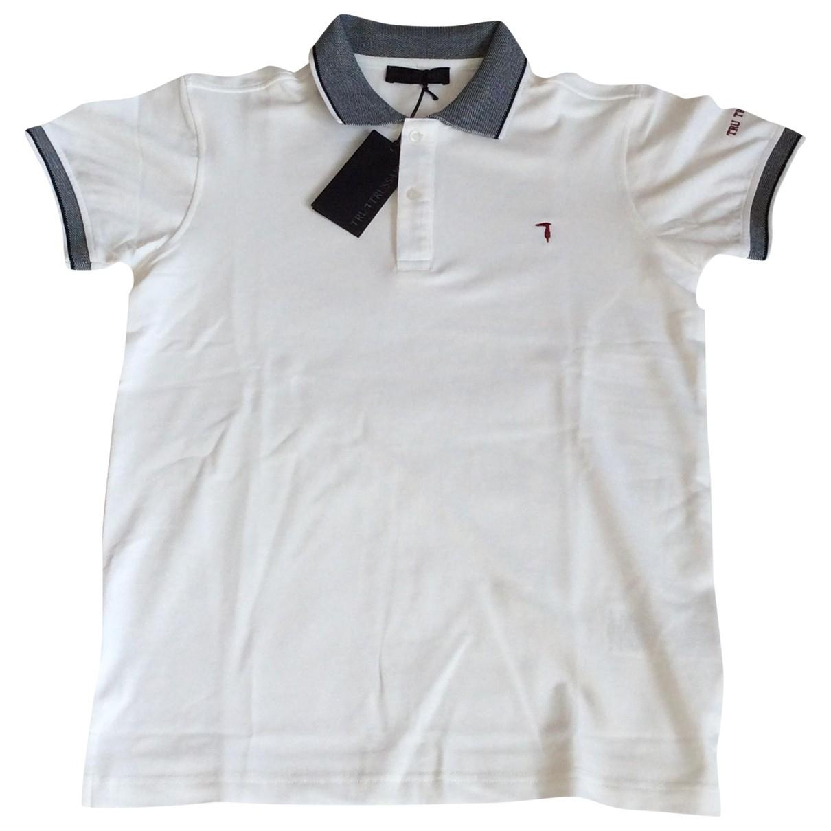 Polo en Algodon Blanco Trussardi