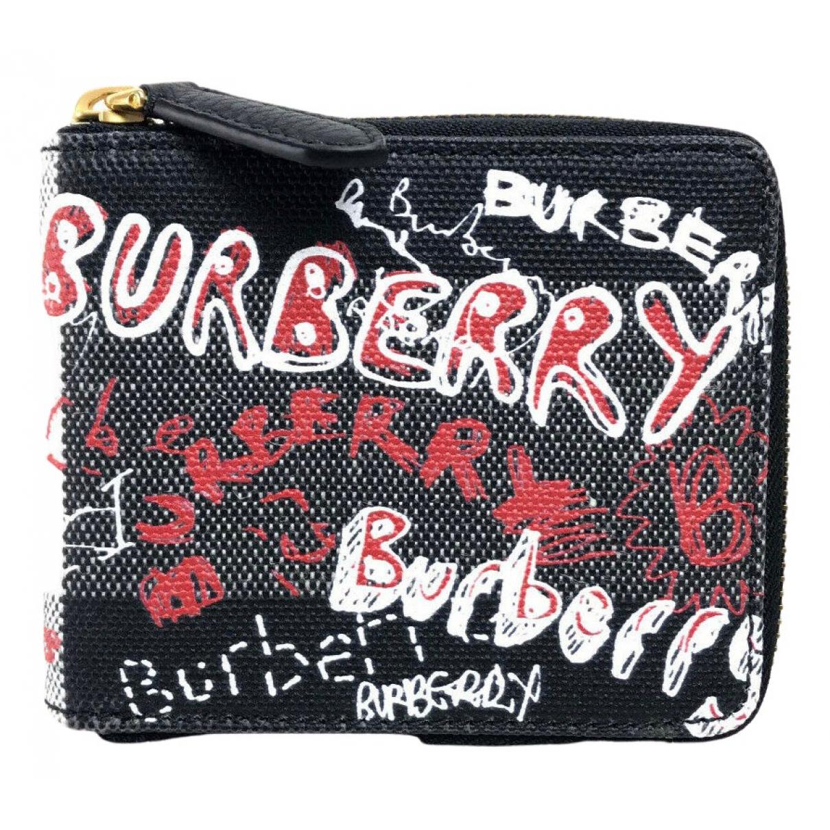 Burberry \N Portemonnaie in  Bunt Leinen