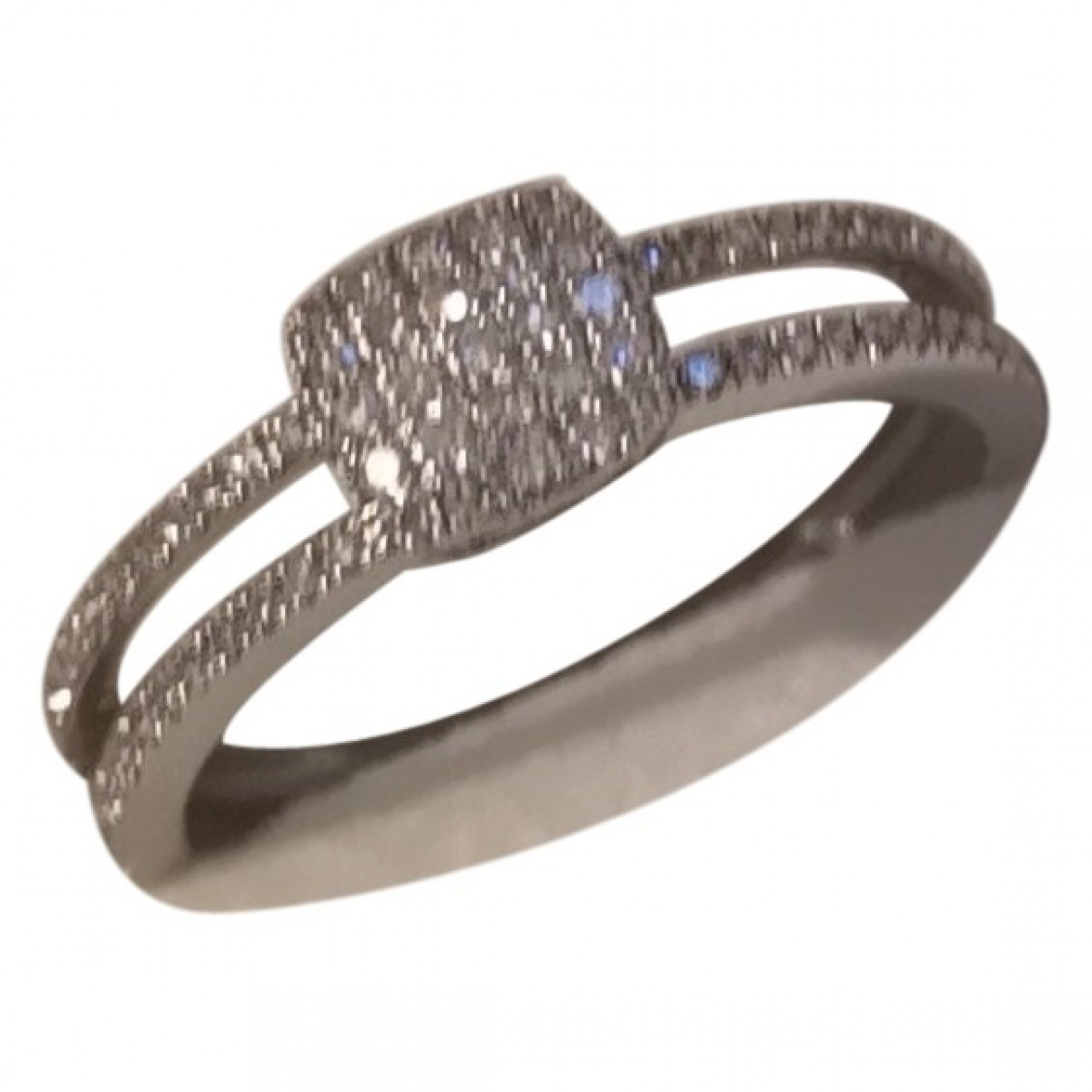 Non Signé / Unsigned \N Silver White gold ring for Women 53 EU