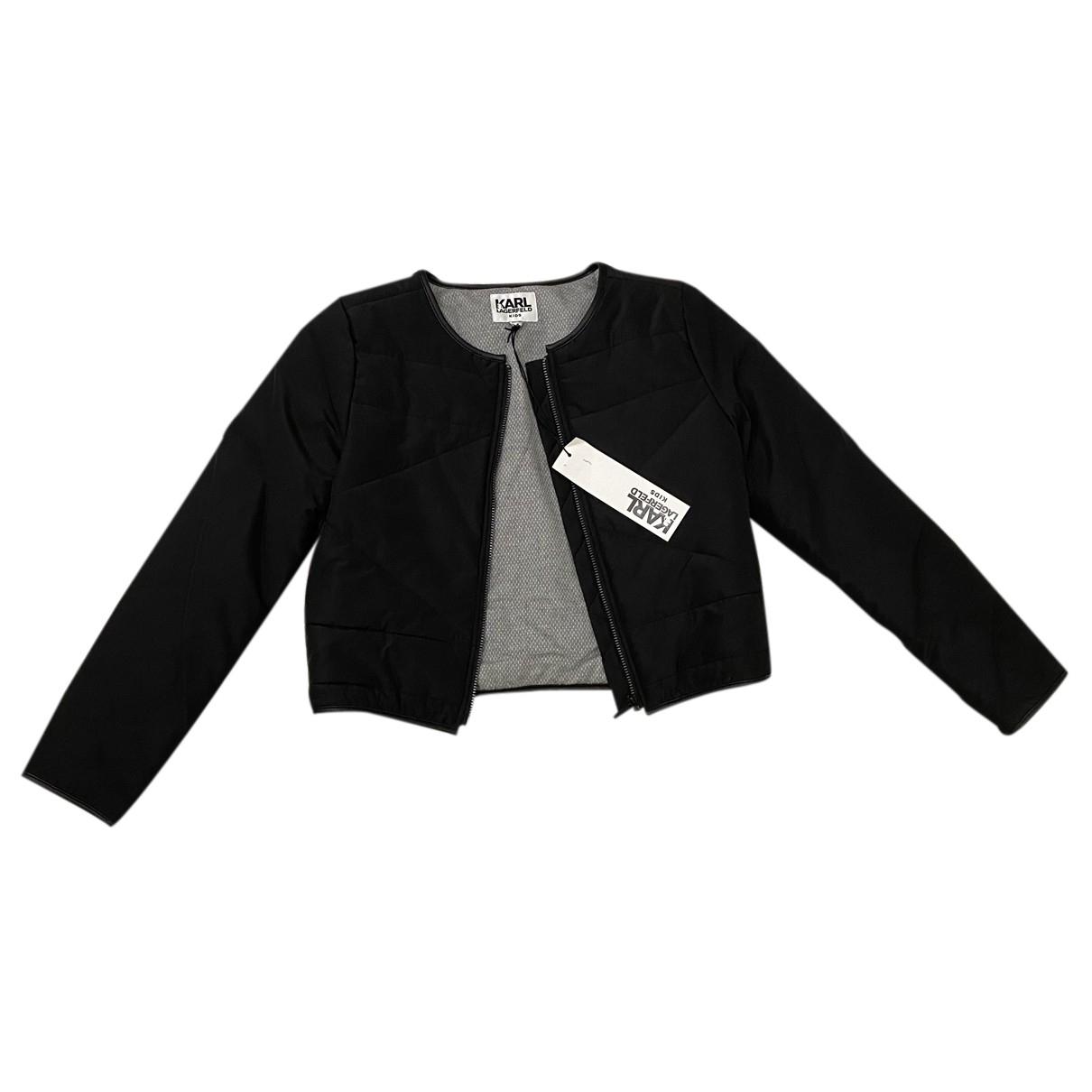 Karl Lagerfeld - Blousons.Manteaux   pour enfant en coton - noir