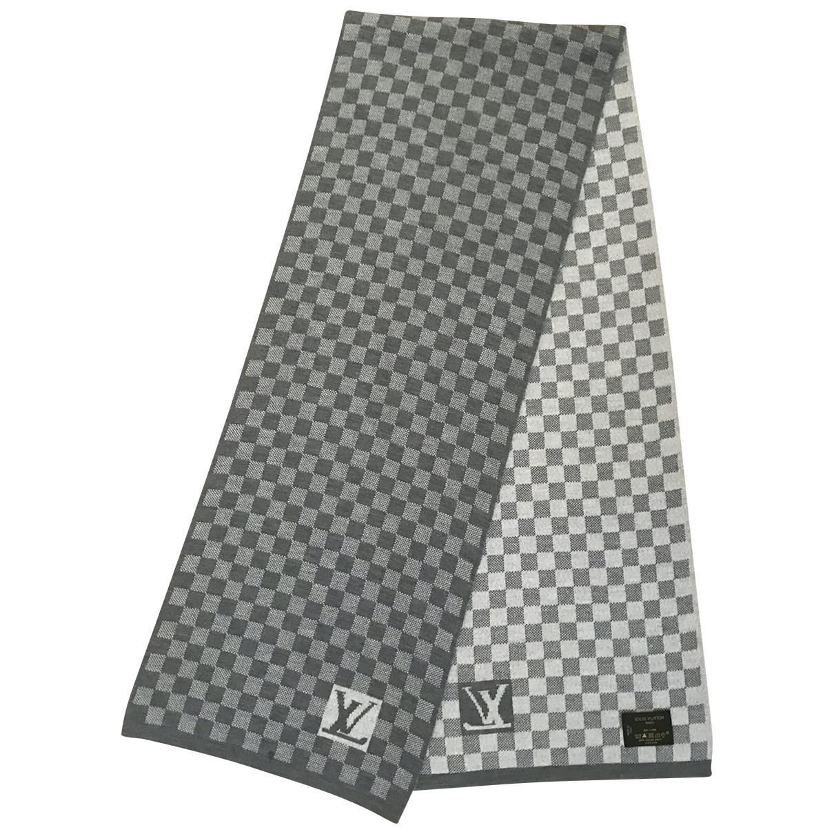 Louis Vuitton \N Grey Wool scarf & pocket squares for Men \N