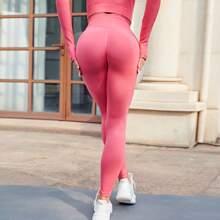 Sports Leggings mit breitem Taillenband
