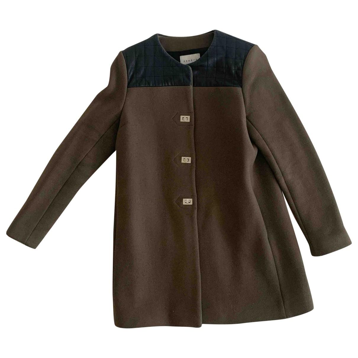 Sandro \N Green Wool coat for Women 40 FR