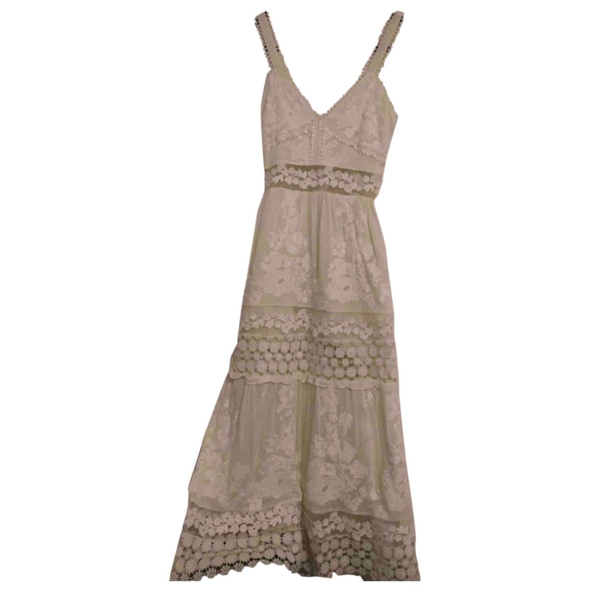 Self Portrait \N White Cotton dress for Women 4 UK