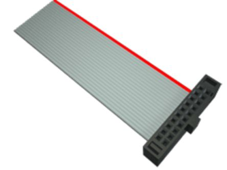 Samtec Flat Ribbon Cable 6in, Female IDC 14-pin to Female IDC 14-pin, Ribbon Cable Assembly