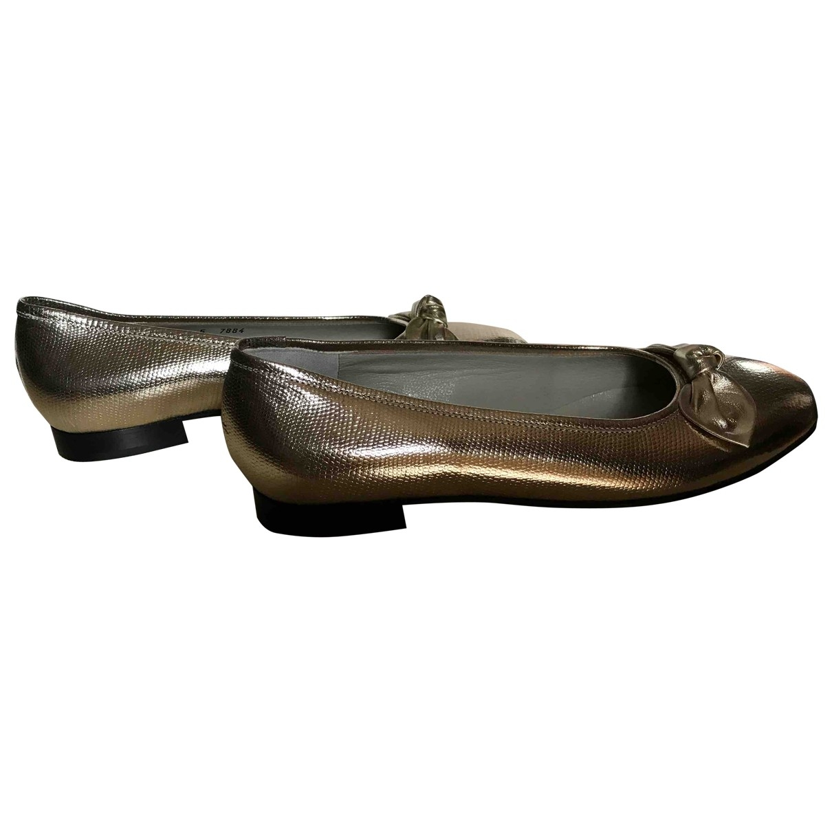 Non Signe / Unsigned \N Ballerinas in  Gold Leder