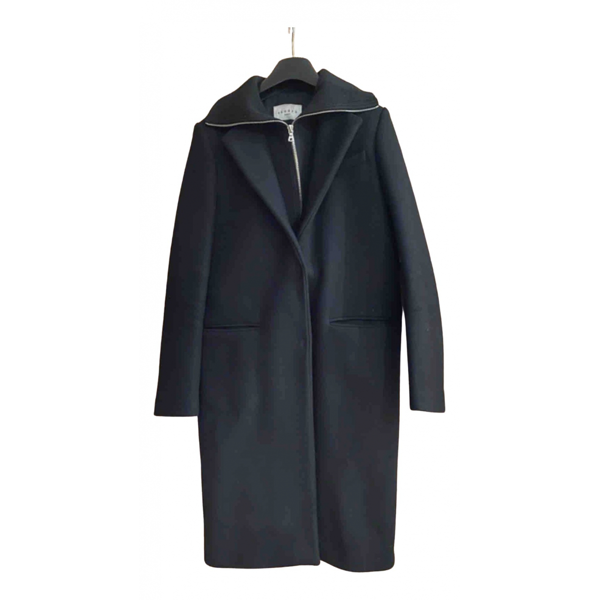 Sandro \N Black Wool coat for Women S International