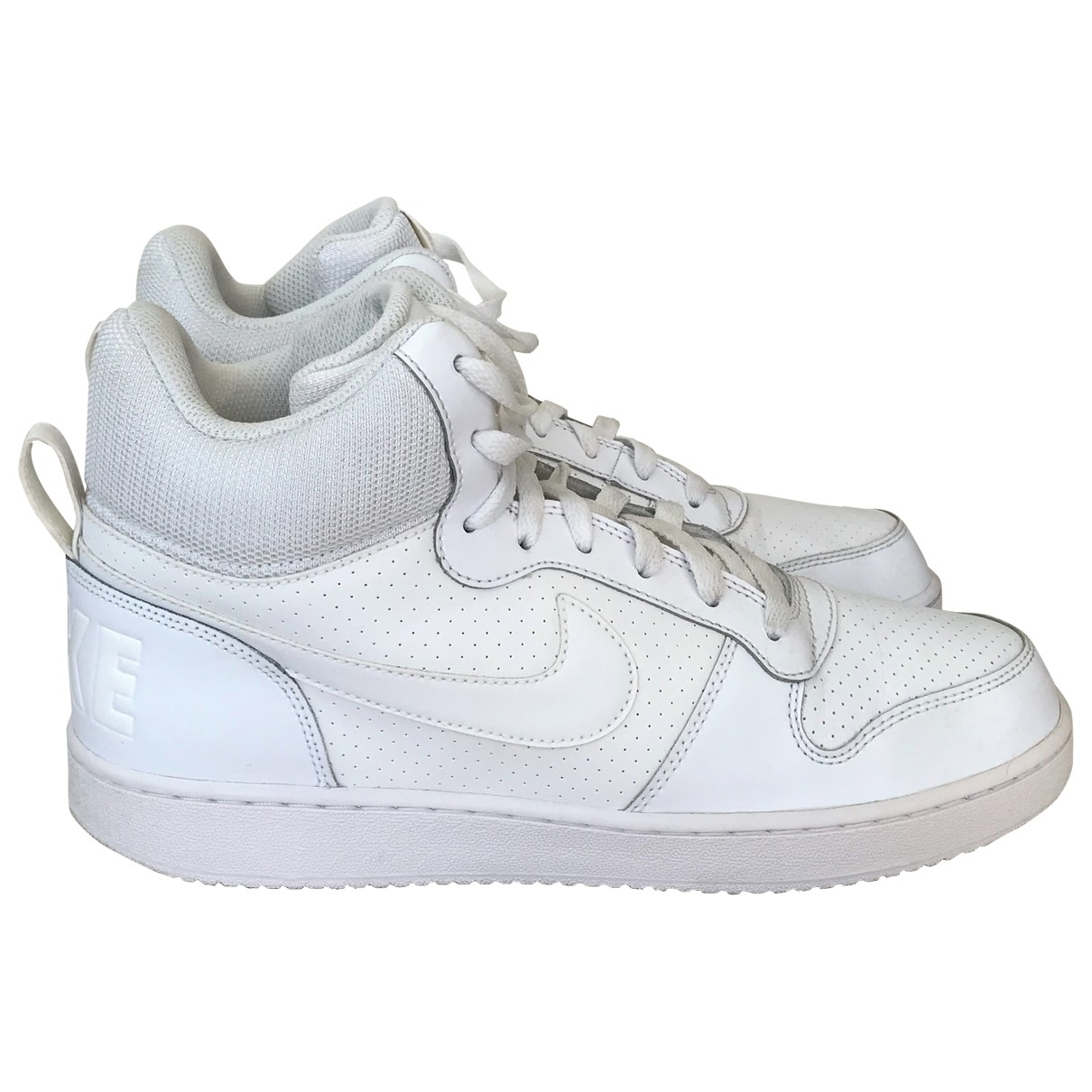 Nike \N White Leather Trainers for Men 44 EU