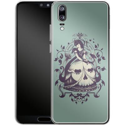 Huawei P20 Silikon Handyhuelle - Mrs Death von Enkel Dika