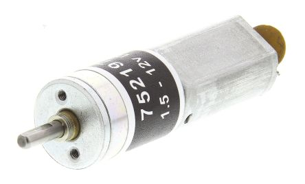 RS PRO , 12 V dc, 16 Ncm, Brushed DC Geared Motor, Output Speed 60 rpm