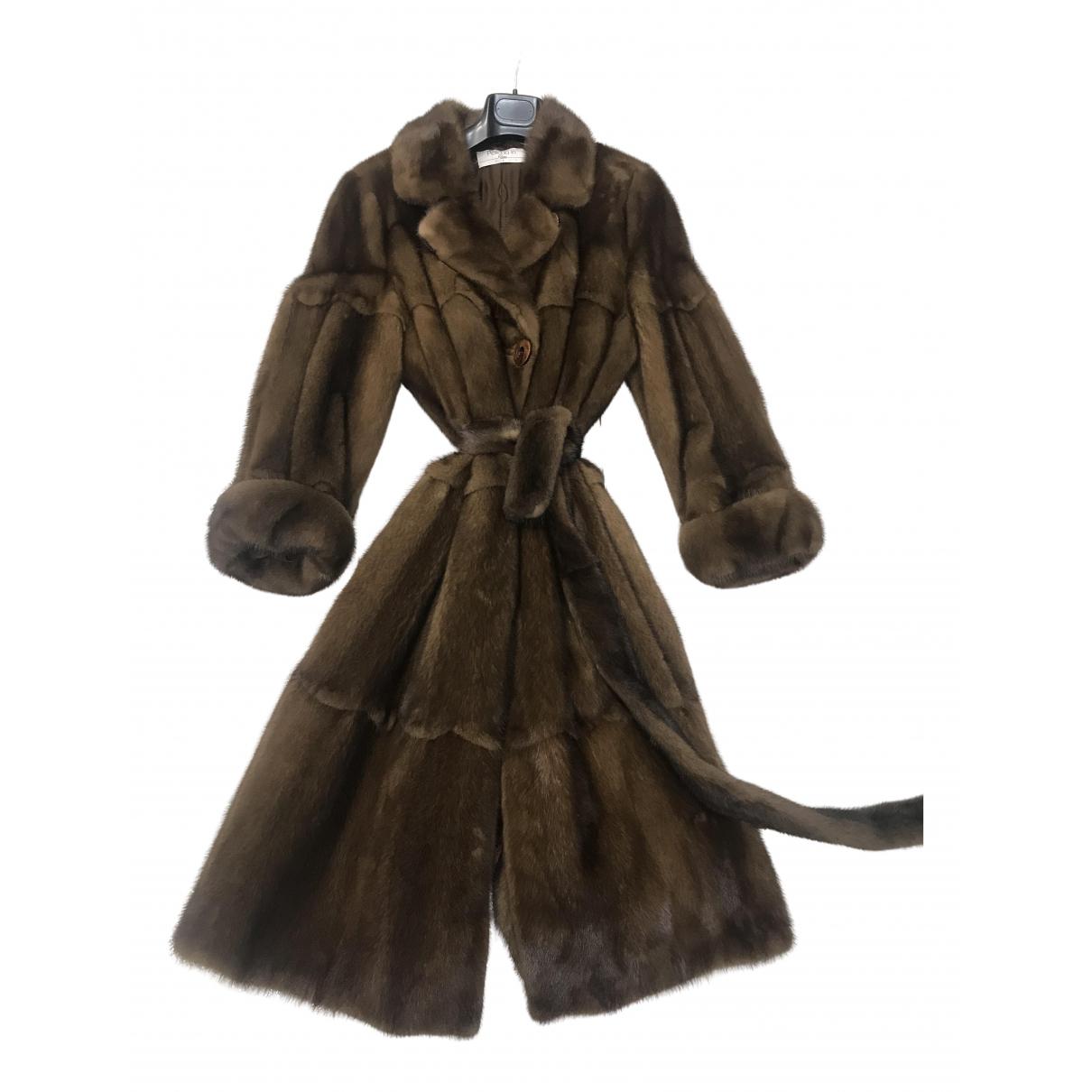Sartore - Manteau   pour femme en vison - marron