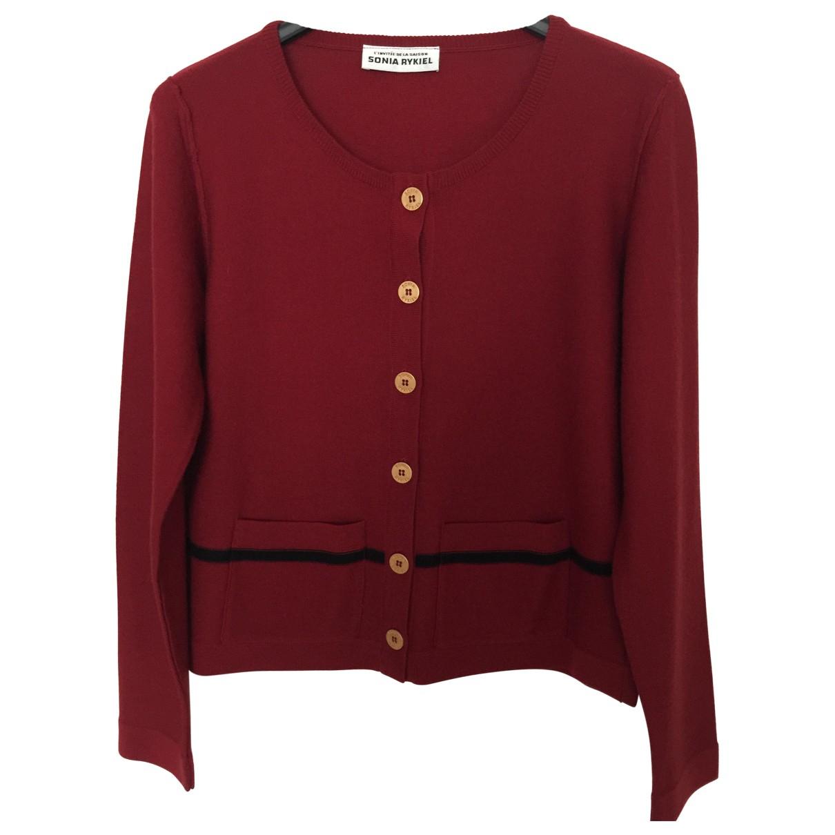 Sonia Rykiel \N Pullover in  Bordeauxrot Wolle