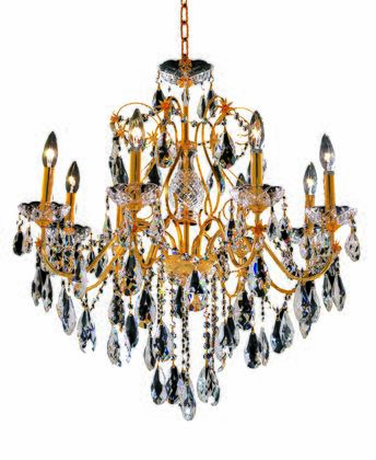 2016D26G/SS 2016 St. Francis Collection Hanging Fixture D26in H23in Lt: 8 Gold Finish (Swarovski Strass/Elements