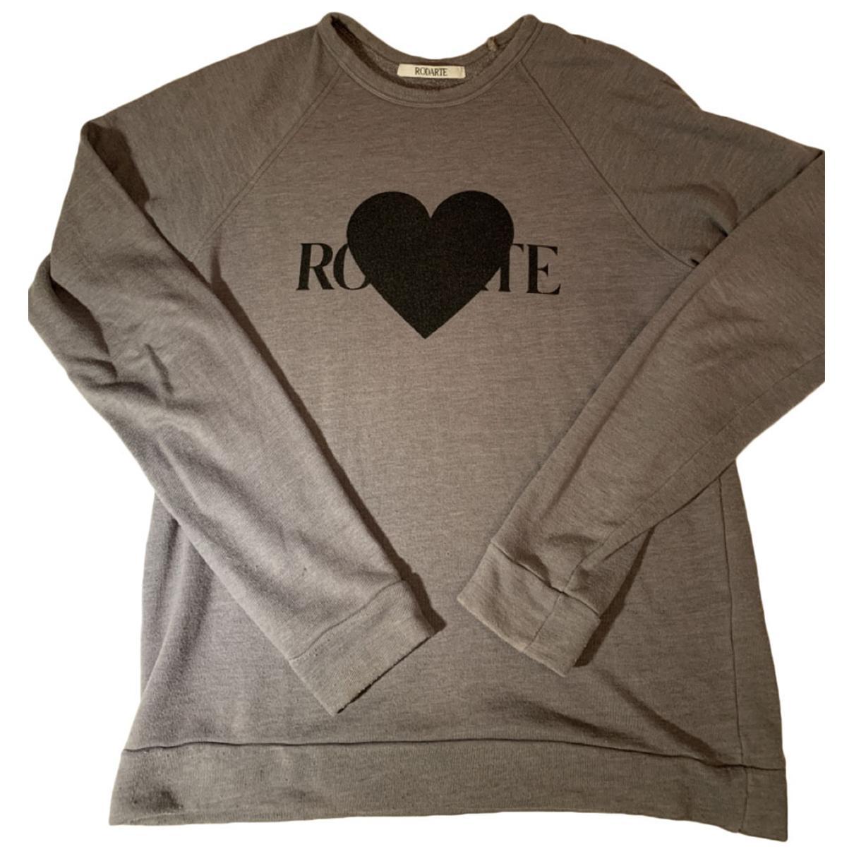 Rodarte \N Pullover.Westen.Sweatshirts  in  Grau Baumwolle