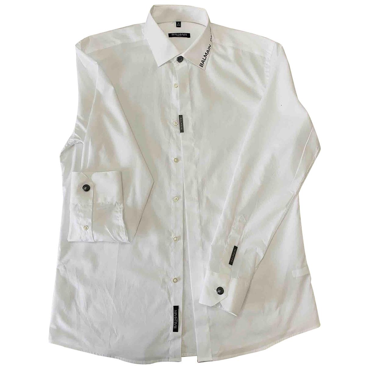 Balmain - Chemises   pour homme en coton - blanc