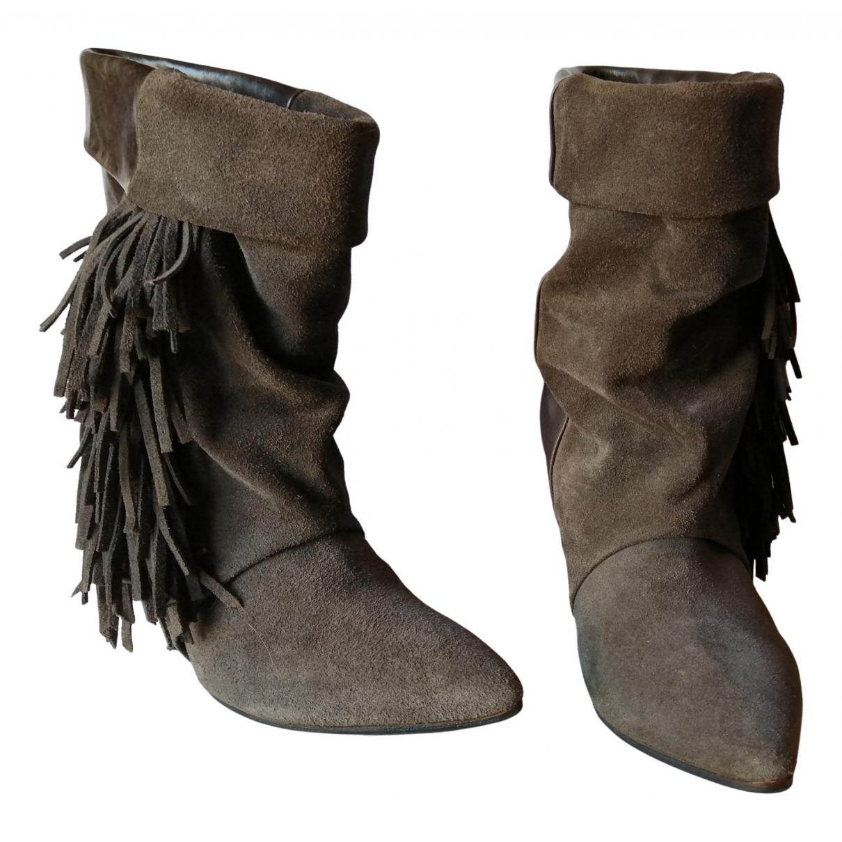 Isabel Marant Pour H&m - Boots   pour femme en cuir - anthracite