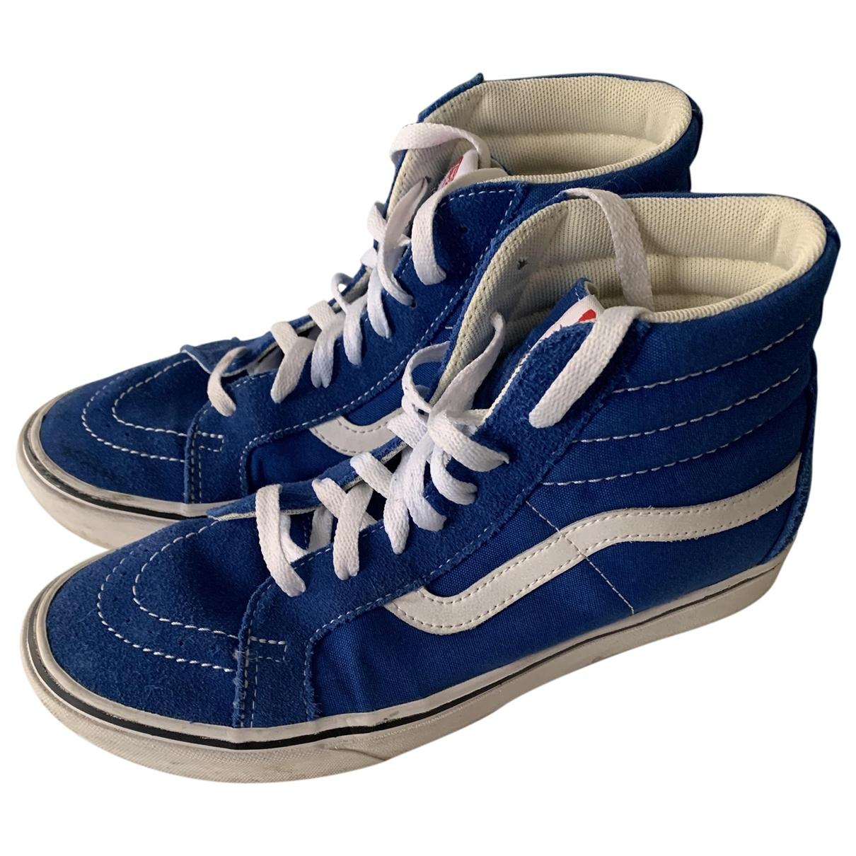 Vans - Baskets   pour femme en suede - bleu