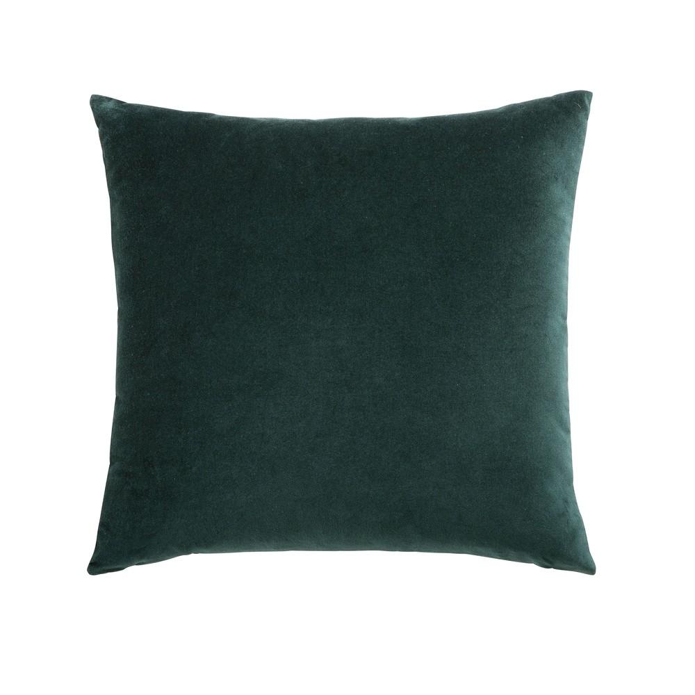 Kissen aus smaragdgruenem Samt 45x45
