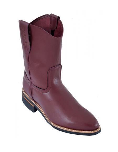 Burgundy Los Altos Men's Leather Sole Work Boots
