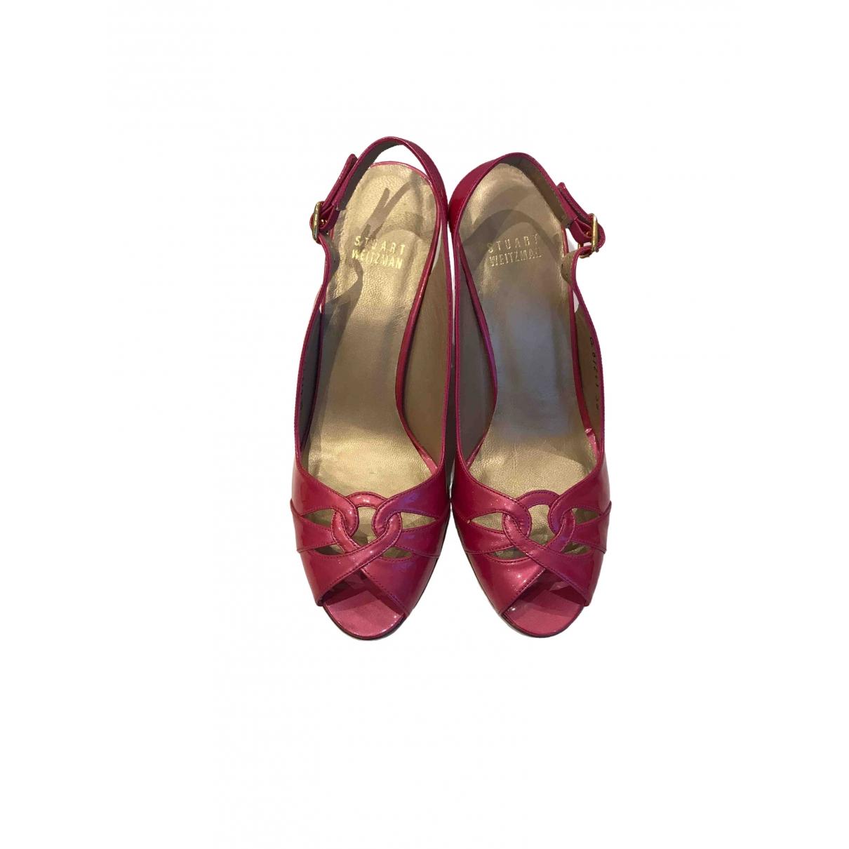 Stuart Weitzman \N Pink Patent leather Sandals for Women 38 EU