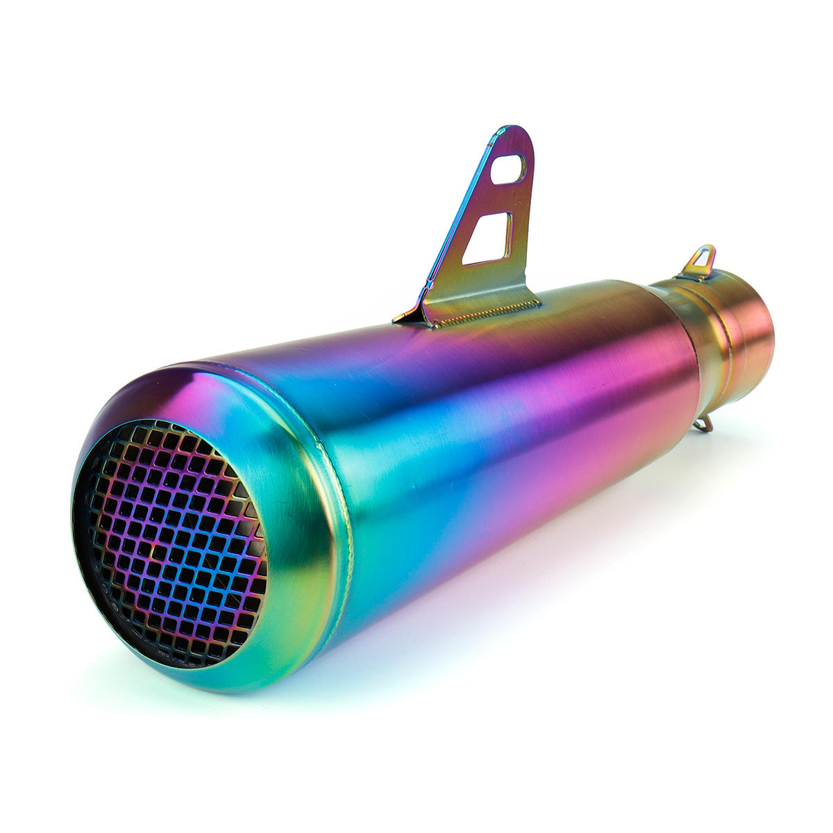 38-51mm Stainless Steel Motorcycle Exhaust Muffler Pipe Mesh Outlet Colorful Universal