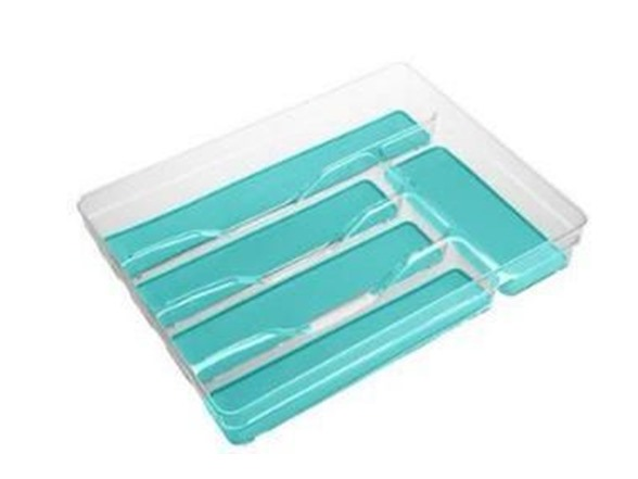 Small Turquoise Cutlery Tray Silicone