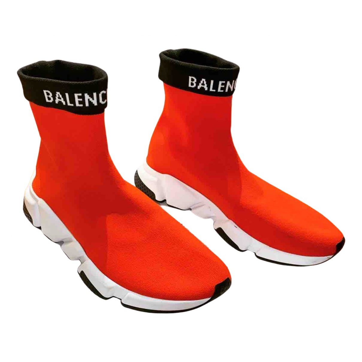 Balenciaga Speed Sneakers in  Rot Leinen