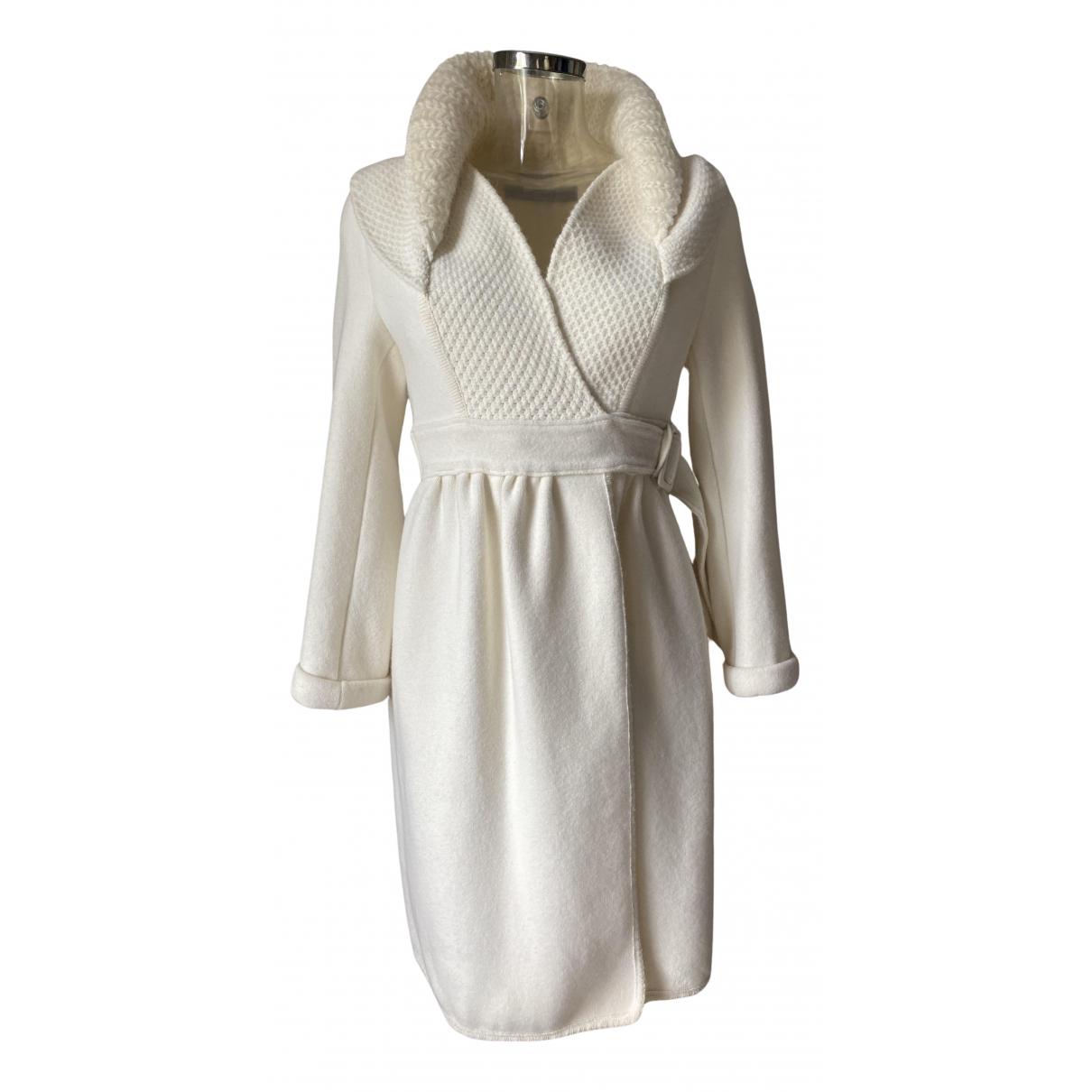 Ermanno Scervino - Manteau   pour femme en laine - blanc