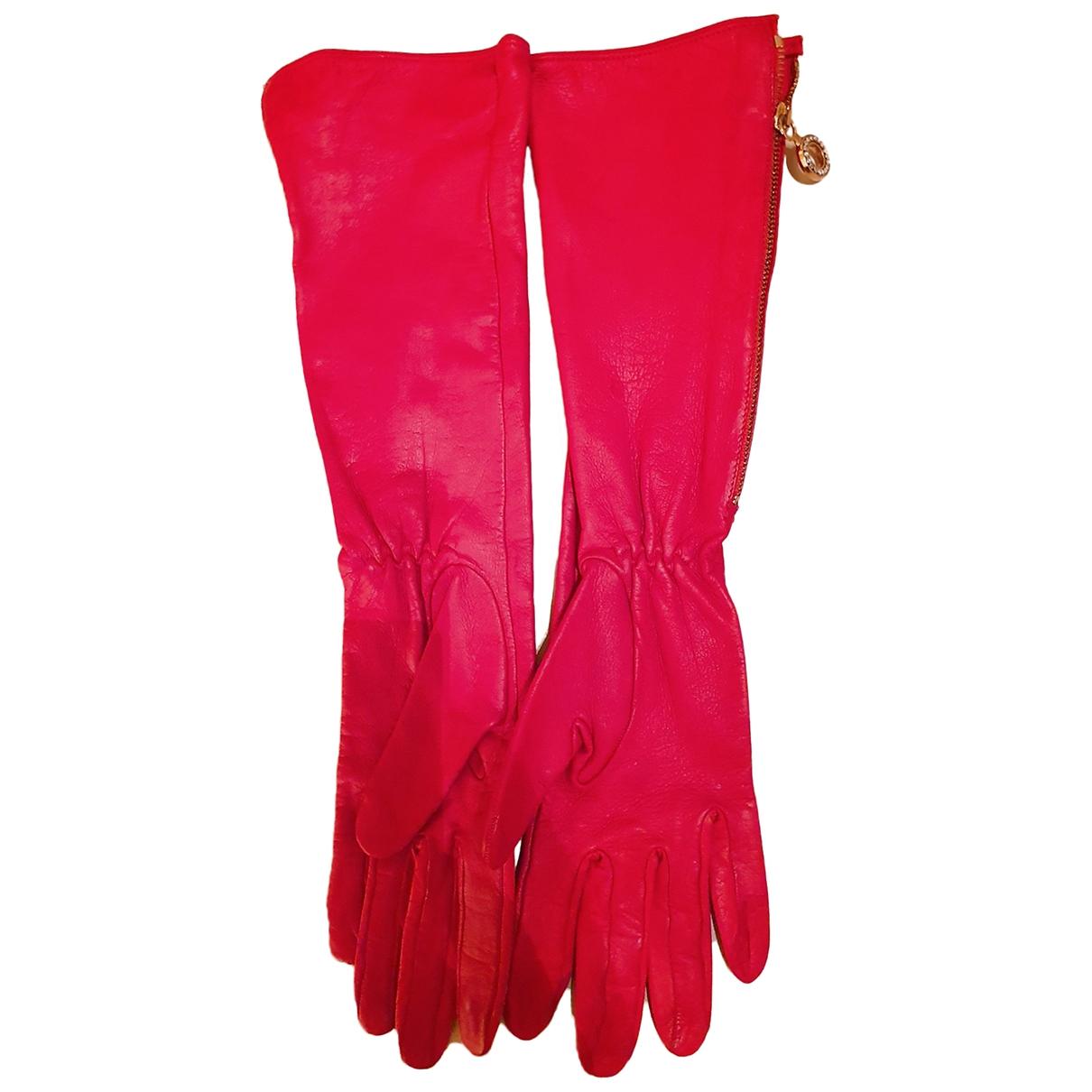 Non Signe / Unsigned \N Handschuhe in  Rot Leder