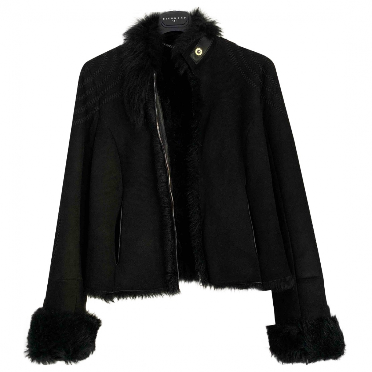 John Richmond \N Black Fur coat for Women XS International