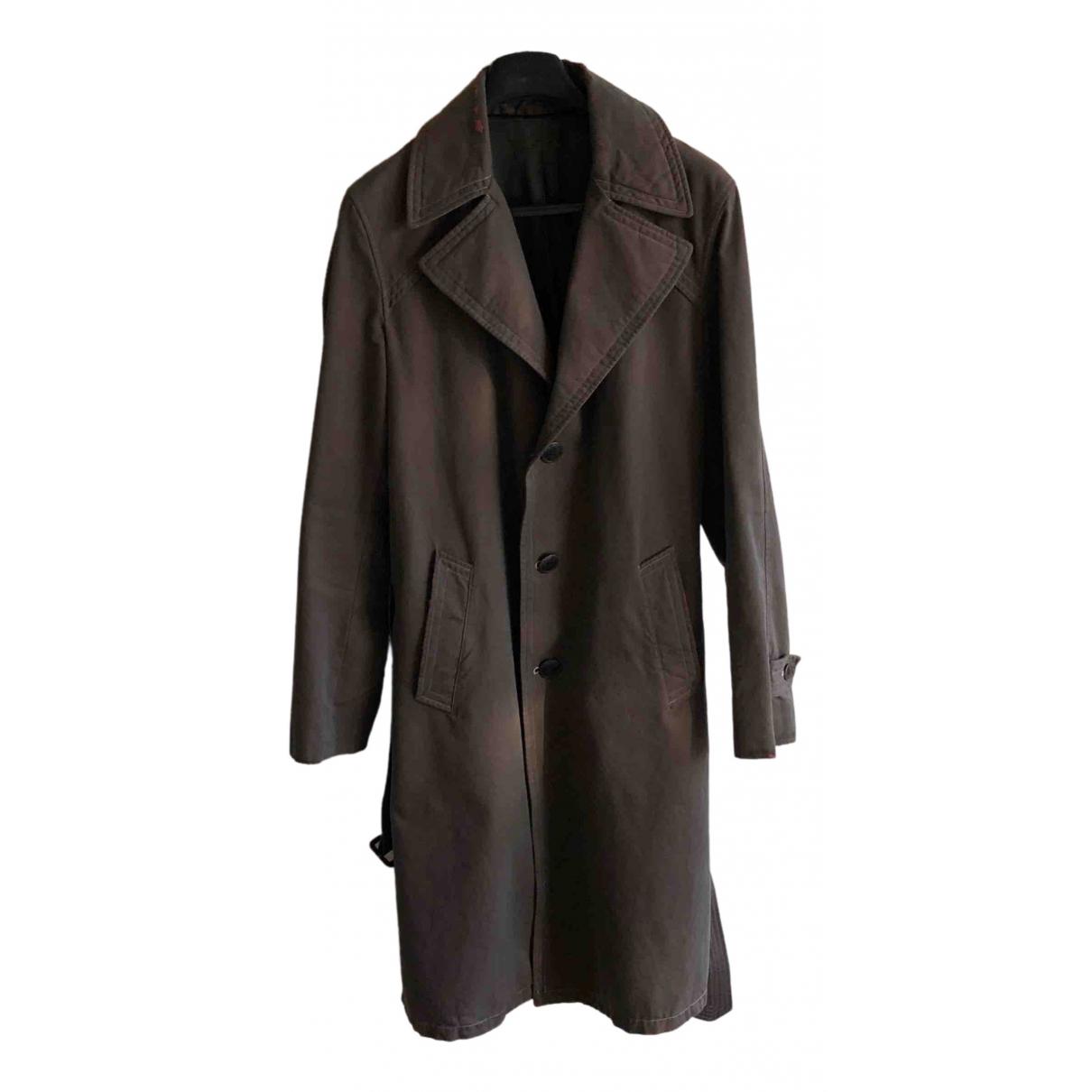 Maison Martin Margiela - Manteau   pour homme en coton - marron