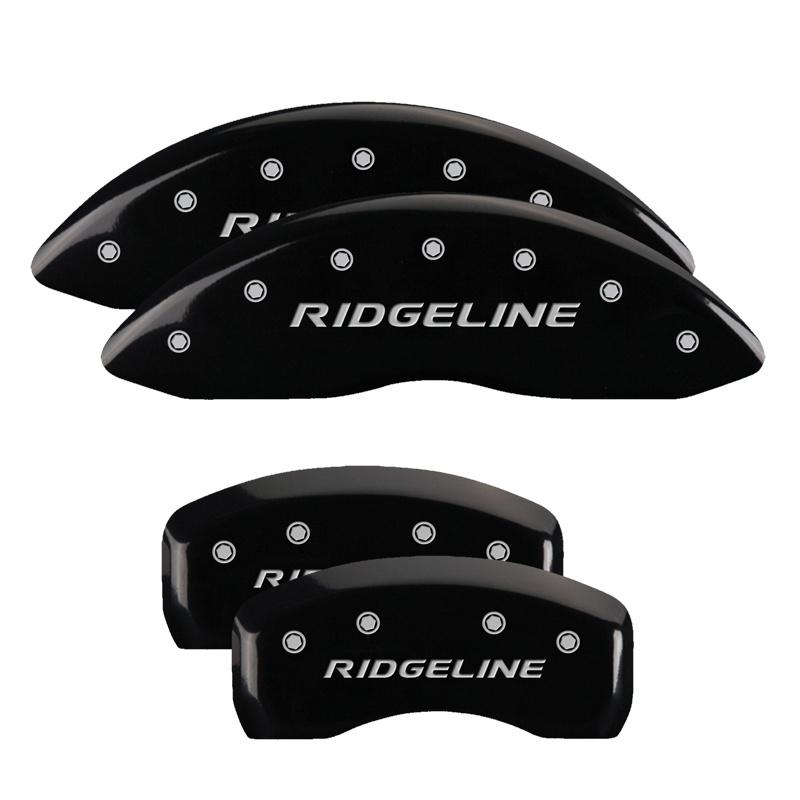 MGP Caliper Covers 20213SRGLBK Set of 4: Black finish, Silver RIDGELINE 2017 Honda
