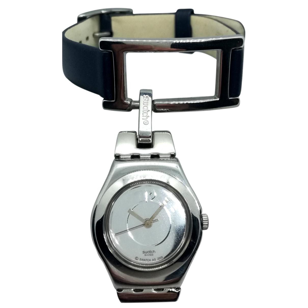 Swatch \N Uhr in  Blau Stahl