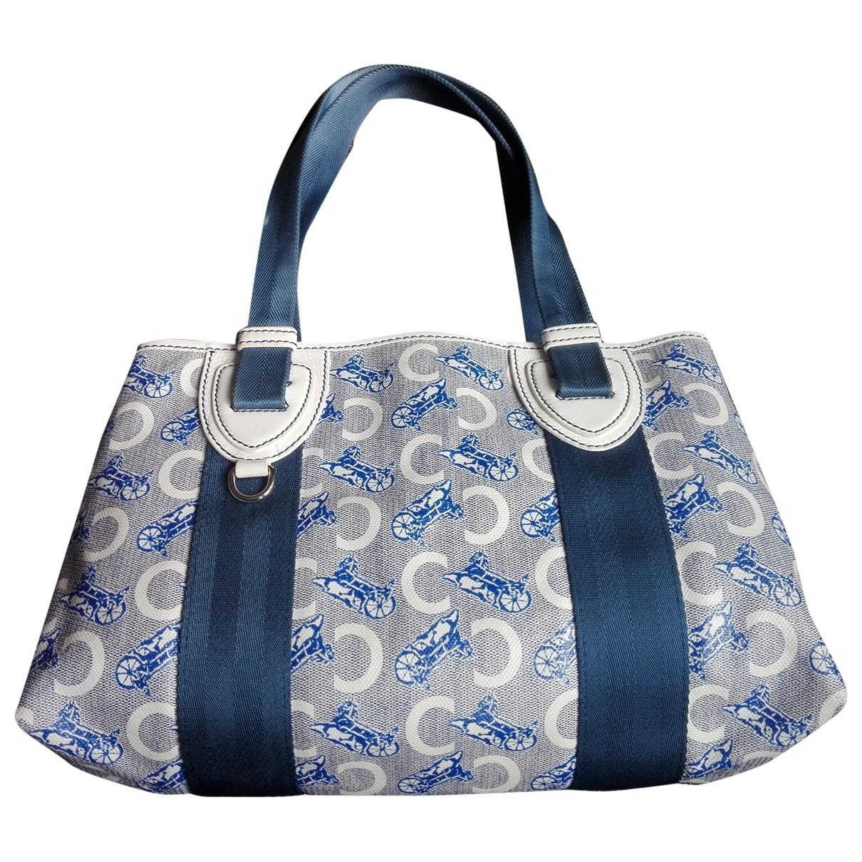 Celine \N Handtasche in  Blau Leinen