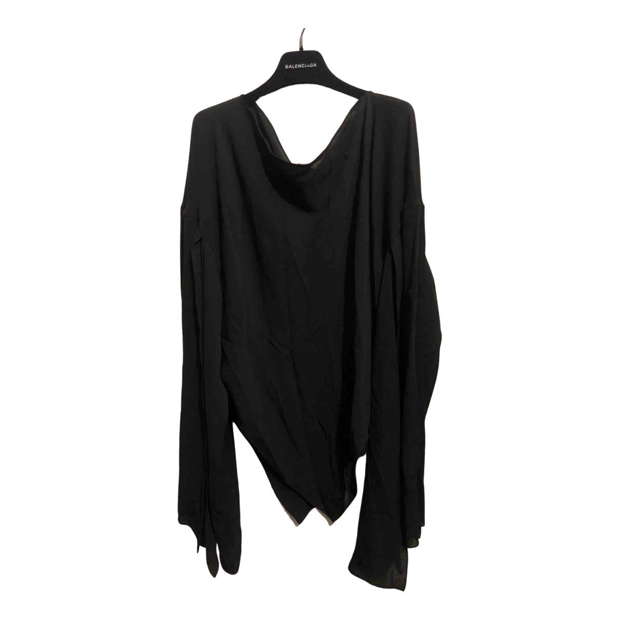 Balenciaga N Black Silk  top for Women 44 IT
