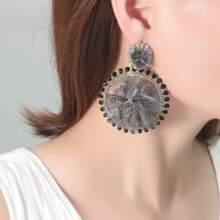 Mesh Flower Drop Earrings