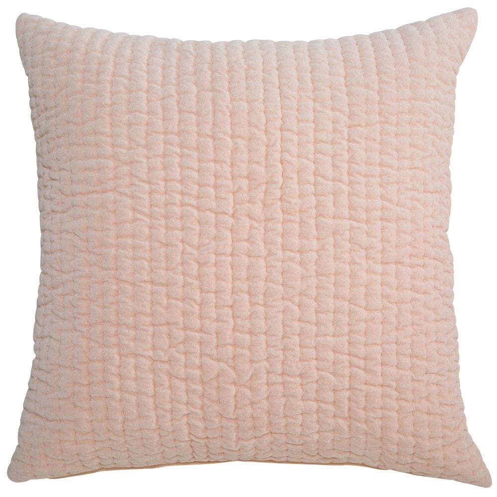 Pikee-Kissen aus rosa Baumwolle 60x60