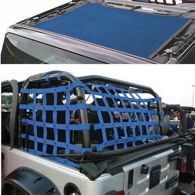 DirtyDog 4x4 Sun Screen with Rear Cargo Net - J4NS07RCBL