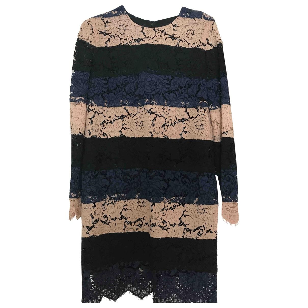 Msgm \N Kleid in  Blau Spitze