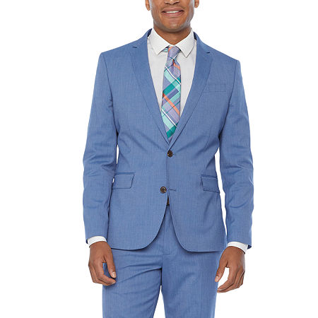 JF J.Ferrar Ultra Comfort Mens Slim Fit Suit Jacket, 44 Regular, Blue