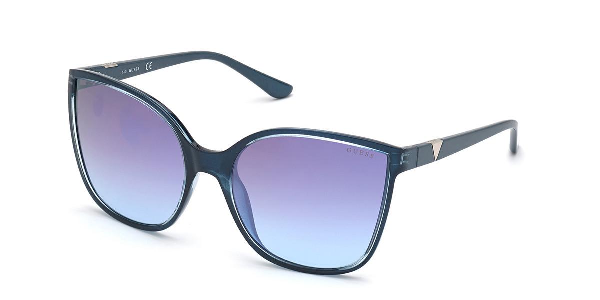 Guess GU 7748 84X Women's Sunglasses Blue Size 60