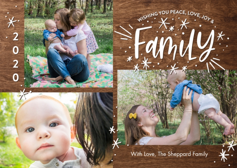 Christmas Photo Cards 5x7 Cards, Standard Cardstock 85lb, Card & Stationery -2020 Christmas Stars Family by Tumbalina