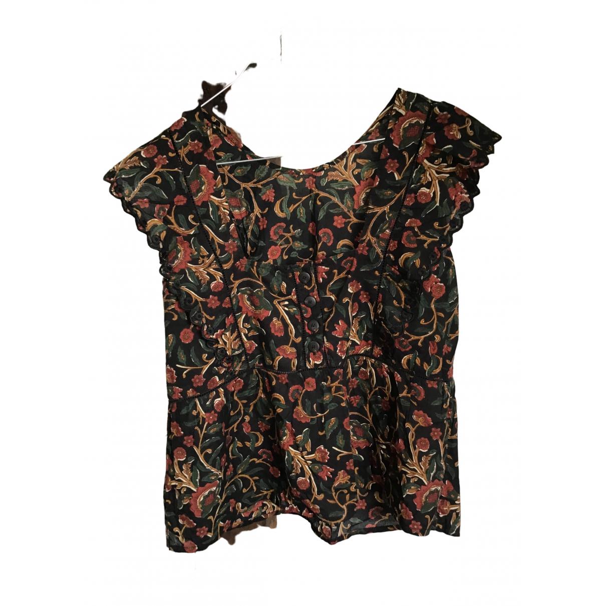 Sezane - Top Spring Summer 2019 pour femme en coton - noir